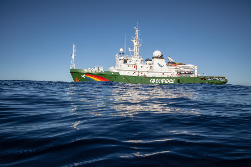 The Greenpeace ship  Esperanza has launched an expedition in the Indian Ocean to peacefully tackle unsustainable fishing. With some tuna stocks in the Indian Ocean, such as Yellowfin, on the brink of collapse due to overfishing, the expedition is exposing destructive fishing methods which contribute to overfishing and harm a range of marine life including sharks and juvenile tuna.Byline: Will Rose