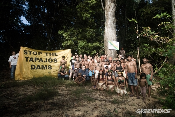 The Munduruku people have inhabited the Sawré Muybu in the heart of the Amazon, for generations. But the Brazilian government currently plan to build a series of dams in the Tapajos River basin, which would severely threaten their way of life.