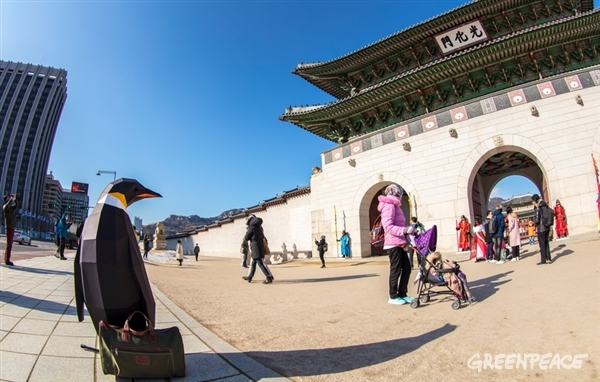 Taking in the amazing Gwanghwamun Gate and Gwanghwamun Square in South Korea. Tourist mode on.