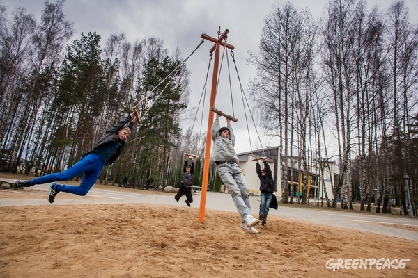 Nadeshda Chernobyl Recreation and Rehabilitation Centre in Belarus. 2 Apr, 2016 © Igor Podgorny / Greenpeace