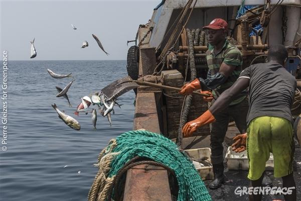 jeter du poisson par dessus bord