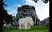 A Greenpeace polar bear in front of the Beehive parliamentary bui