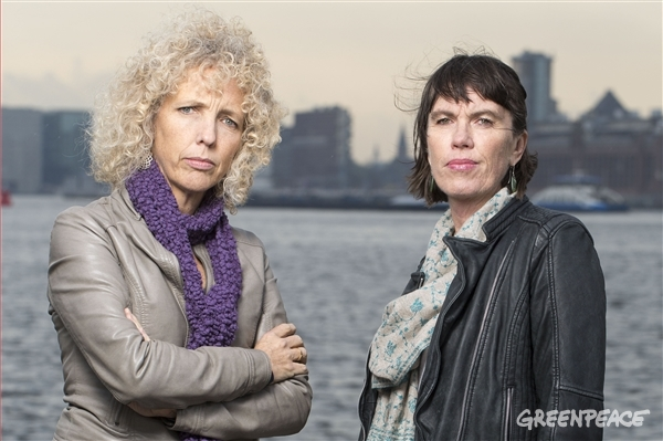Greenpeace International Executive Directors Jennifer Morgan and Bunny McDiarmid. 14 Apr, 2016 © Bas Beentjes / Greenpeace