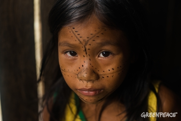 Munduruku Child in the Amazon Rainforest. 1 Mar, 2016 © Valdemir Cunha / Greenpeace