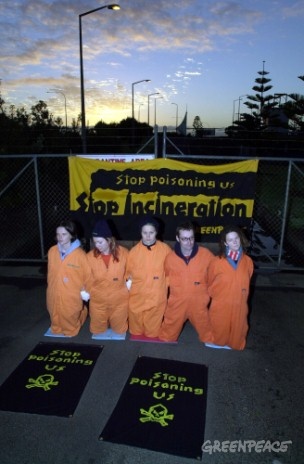 Greenpeace activists shut down Auckland Airport incinerator