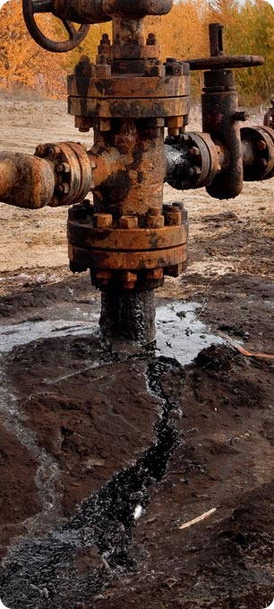 Tens of thousands of small scale leaks to pipelines  throughout the oil fields add up to millions of tons polluting the environenment on a scale bigger than seen anywhere else including Nigeria.