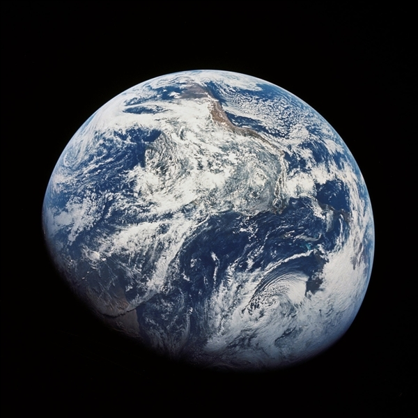 Earth seen from Space. Apollo 8 Mission, 1969. © NASA