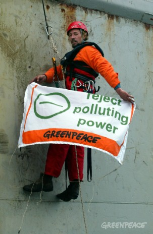 Greenpeace activist Adam Shore