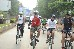Cycle rally in Mumbai protesting against Shell drilling for oil i