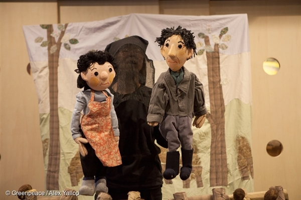 "…whilst Tatsuko is a talented puppeteer. She's performing ""Taro and Hanako"", a real-life story based on a couple affected by the Fukushima nuclear disaster."
