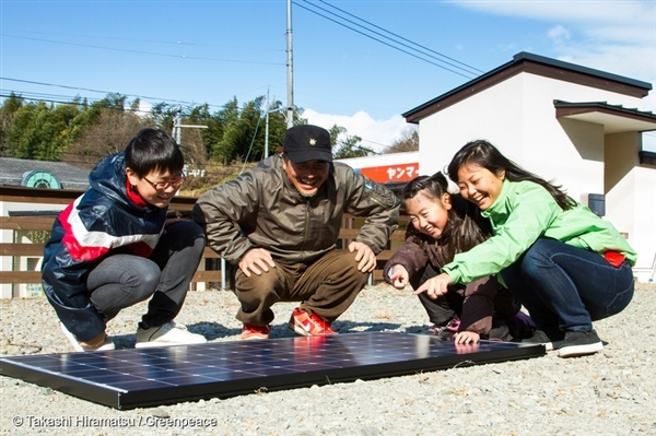 Meanwhile, kids in the community learn about solar energy.