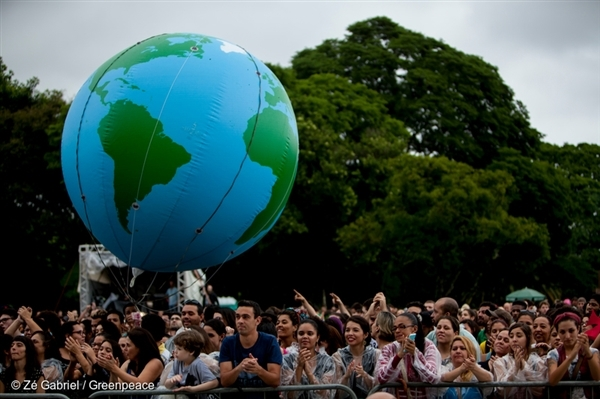 About 2,300 people gathered at last year's Global Climate March in São Paulo. Among the many causes, citizens asked for 100% renewable energy, public water warranty and the end to deforestation.