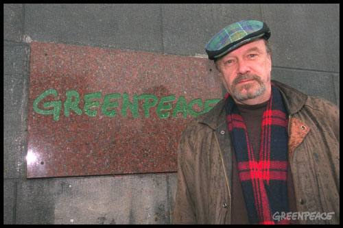 Bob Hunter at Greenpeace International in Amsterdam, 1998
