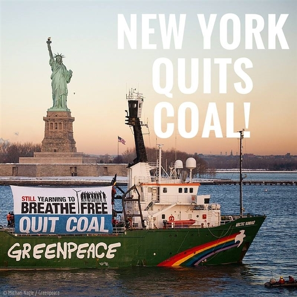 New York state has committed to shutting down all coal-fired power plants by 2020!