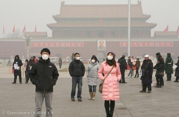 Air Pollution in Beijing. 19 Jan, 2012 © Greenpeace / Yin Kuang