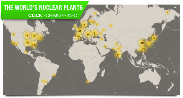 Map: The world's nuclear plants