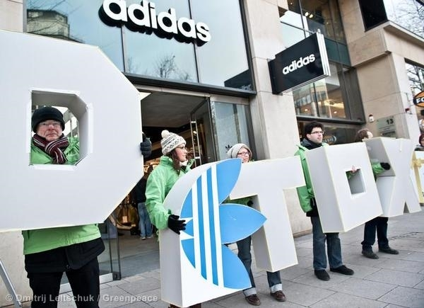 Detox Protest Against Adidas in Hamburg
