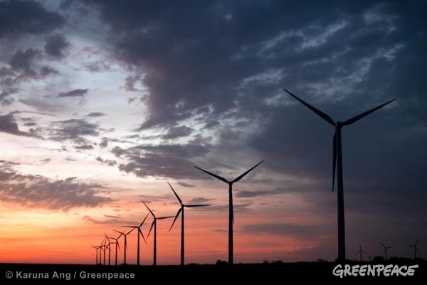 Wind turbines in Iowa, U.S.