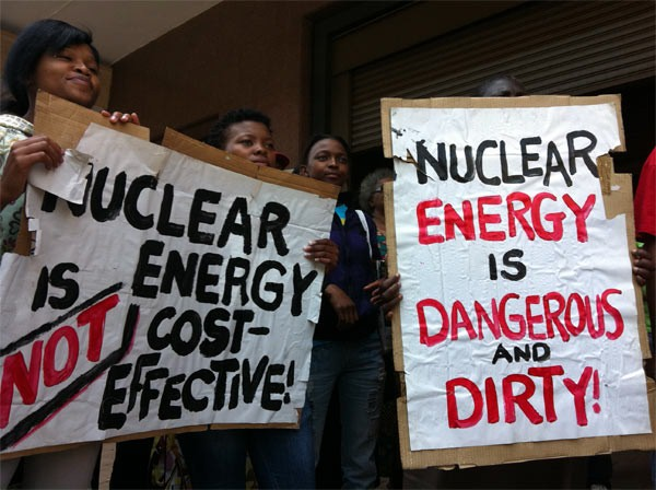 Eathlife Africa protest: Nuclear is not the answer!
