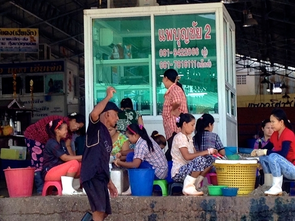 Shrimp laborers in Thailand. Provided by International Labor Rights Forum
