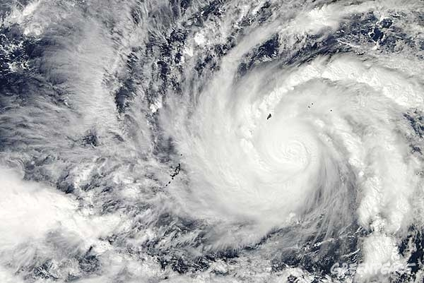 Typhoon Hagupit © NASA Goddard MODIS