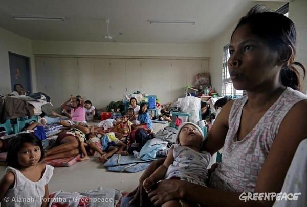 Typhoon Hagupit Devastation In Albay. 12/07/2014 © Alanah Torralba / Greenpeace