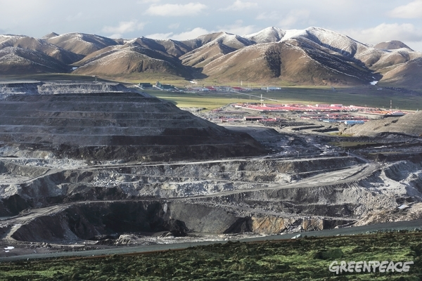 Coal Mines at the Source of the Yellow River, 20 Jun, 2014. © Wu Haitao / Greenpeace