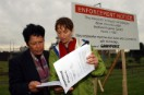 Linda Lee and Sue Connor at the Auckland Airport incinerator site