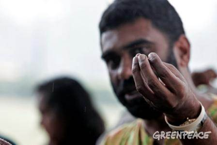 Greenpeace International Executive Director at an interactive session in India