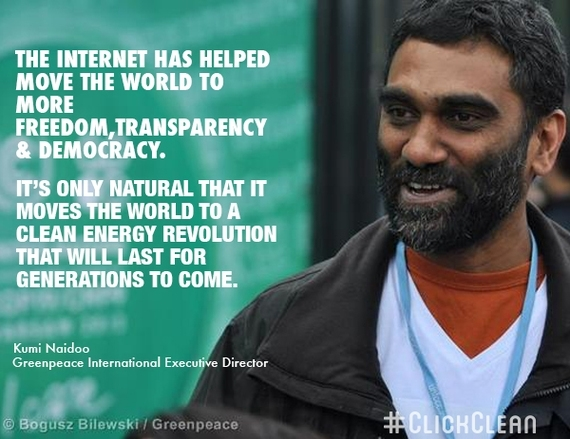 The internet has helped to move the world to more freedom, transparency & democracy. It's only natural that it moves the world to a clean energy revolution that will last for generations to come.