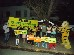 Supporters show their support for the fight for Mahan during the