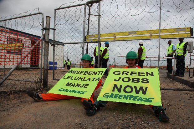 Greenpeace action at Kusile power plant, Witbank, South Africa.