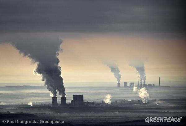 Belching coal plant in Germany