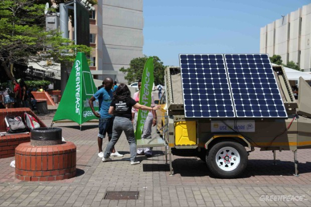 Setting up the Solar Caravan