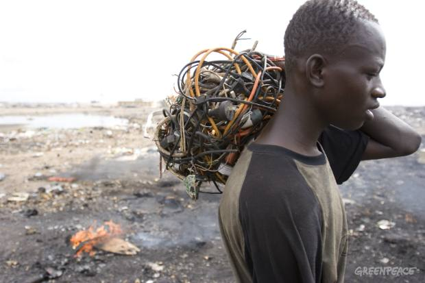Bundle of Electronic Cables - Ghana e-waste