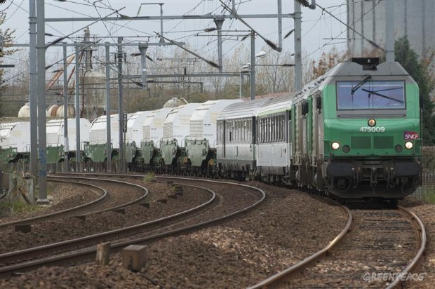Nuclear Waste Train en route from France to Germany