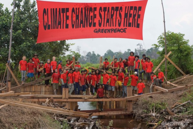 Activists Build Dams in Indonesia
