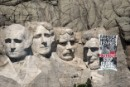 Climate Banner Action on Mount Rushmore