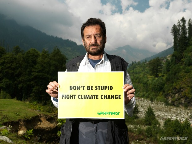 Shekhar Kapur joins Greenpeace at the Rohtang glacier to highlight the effects of global warming and the need to mitigate climate change.