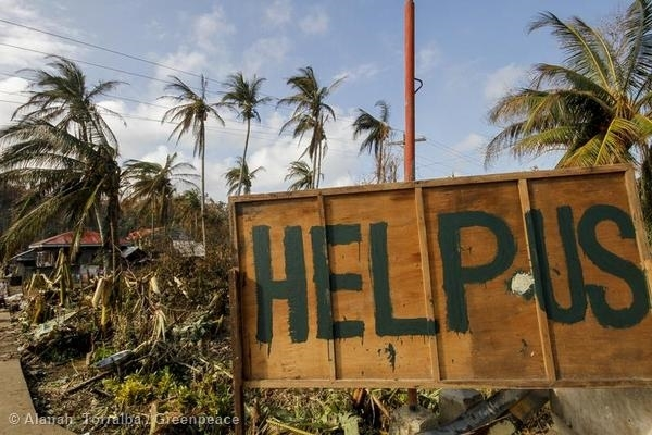 Typhoon Hagupit Devastation in The Philippines. 9 Dec, 2014 © Alanah Torralba / Greenpeace