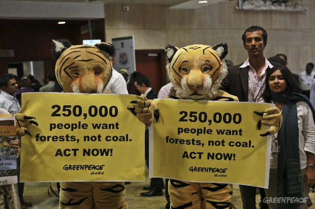 Tigers have a message for the Indian Prime Minister addressing the United Nations Convention to Biodiversity.