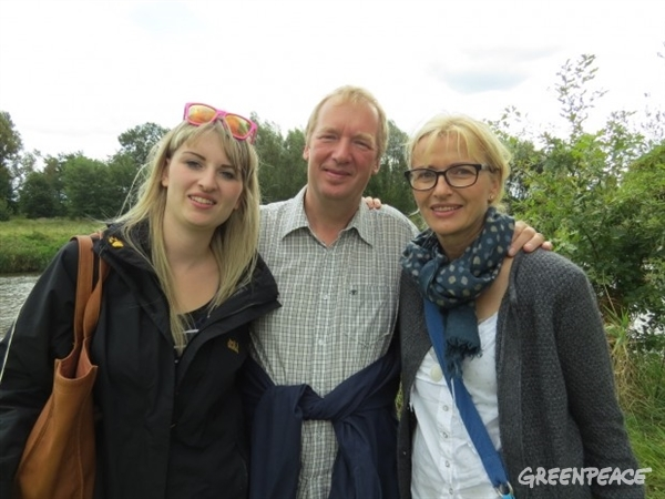 The Kapelle family. © Greenpeace