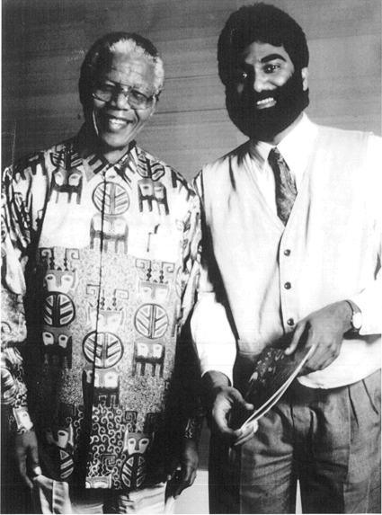 Nelson Mandela and Kumi Naidoo