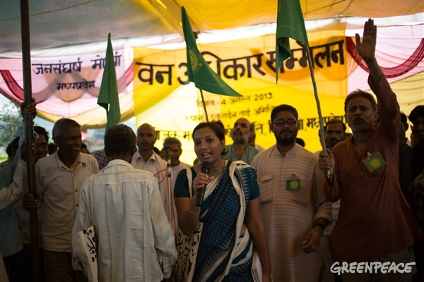 Priya Pillai, Forest Rights Campaigner with Greenpeace India © Vivek M/Greenpeace
