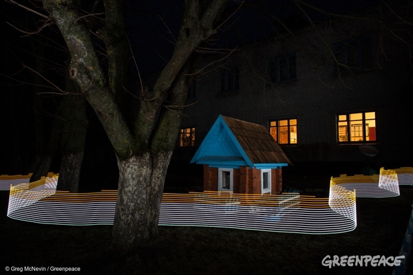 As part of the 5-year Fukushima and 30-year Chernobyl anniversaries, Greenpeace commissioned Greg McNevin for a Lightmapping project. Using long exposure photography and a custom made geiger counter-enabled LED light painting tool, these images make the invisible visible: measuring and displaying radiation levels in real-time, in the environments in which it exists.