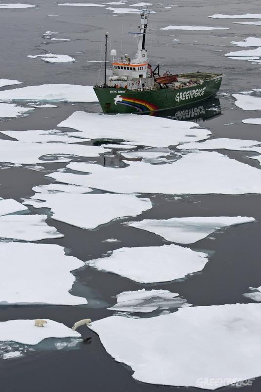 MY Arctic Sunrise in the Arctic