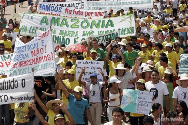 Brazilian people take to the streets