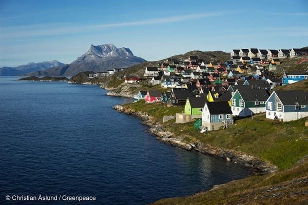 Nuuk, the capital of Greenland, in summer. 14 Aug, 2015 © Christian Åslund / Greenpeace