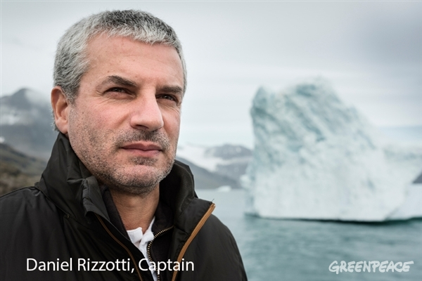 Daniel Rizzotti, from Argentina, Captain onboard the Greenpeace ship Arctic Sunrise. 28 Aug, 2015 © Christian Åslund / Greenpeace