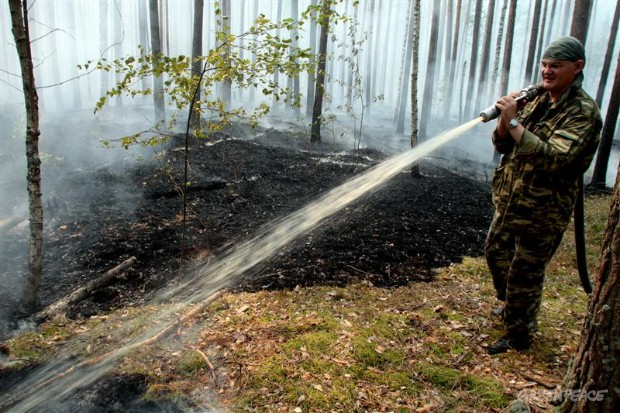 Volunteer Valentin fights fires in Russia